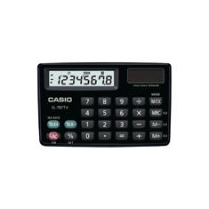Calculadora de bolso horizontal Casio Card SL-787TV-BK 8 Dígitos, Solar e Bateria, Preta