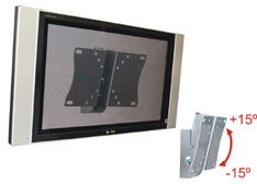 SUPORTE PARA TV LCD E PLASMA MULTIVISÃO STPA42, Prata