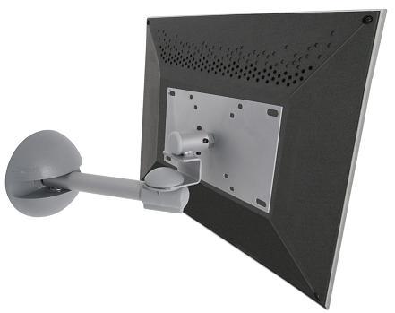 Suporte de Parede Articulado com Inclinação para TVs LCD / LED até 40´´ MULTIVISÃO STPA46 Prata