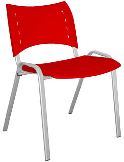 Cadeira STILLUS MULTIVISÃO Vermelha