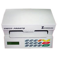 Impressora de Cheque Chronos Bege Multi 31100 / Acc300 Serial Semi-Nova