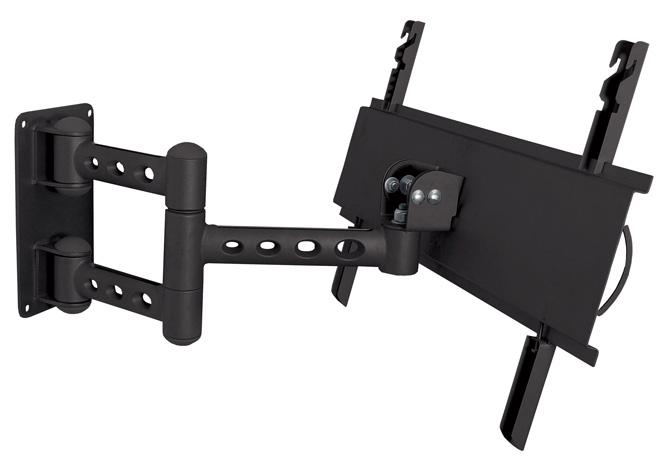 Suporte de Parede Articulado com Inclinação para TVs LCD / LED de 32´´ a 52´´. Estrutura em ALUMÍNIO Multivisão STPA68 Preto