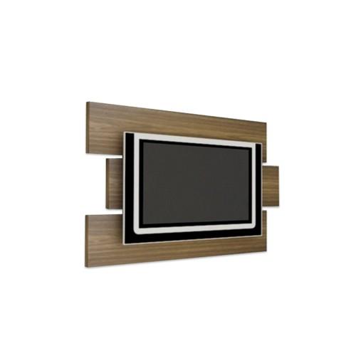 Painel Multivisão Móbile, Imbuia para TV LCD/Plasma/LED de até 46´ (Acompanha Suporte para fixação da TV no Painel)