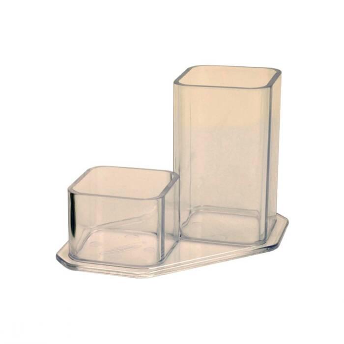 CONJUNTO DUPLO MENNO 2918 Cristal  (Porta Lápis/Clips)