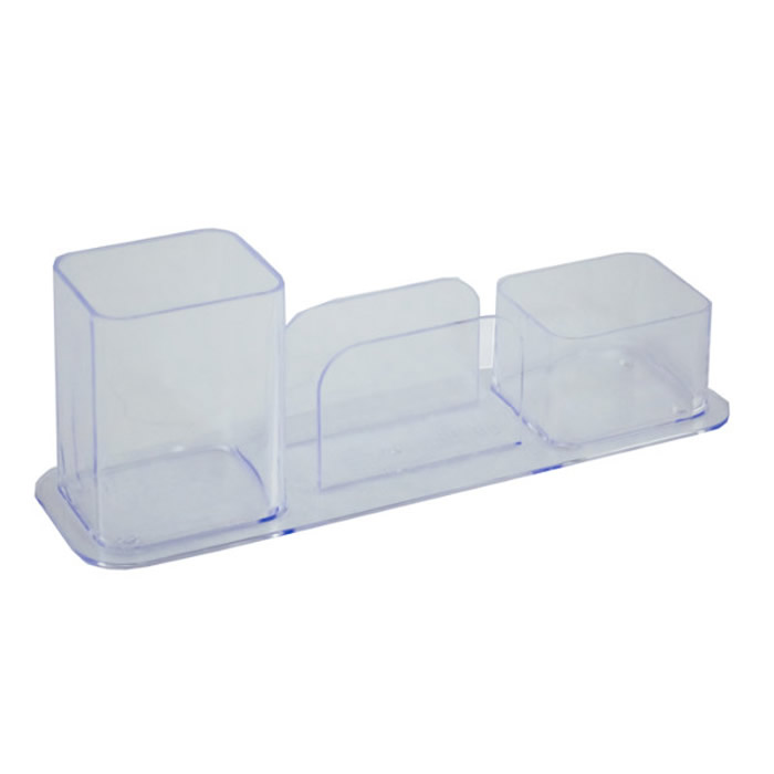 Conjunto Triplo Menno 2881 Cristal (Porta Lápis/Clips/Cartão)