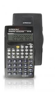 Calculadora Científica Procalc SC128 com 56 funções, 10 dígitos, capa protetora dobrável, 2 baterias G10