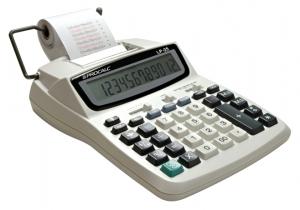 Calculadora de Impressão Procalc Lp25 12 Díg Relógio 2 Cores 2,4 L/S Fonte Bivolt Ir40T