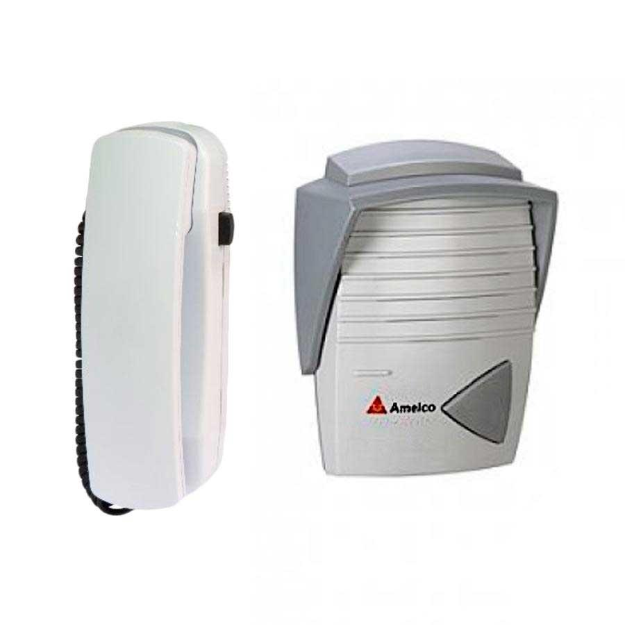 Porteiro Eletronico Residencial Amelco AM-M200 Cinza e Prata