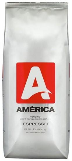 Café América Vending em Grãos 1kg Blend com Torra Média
