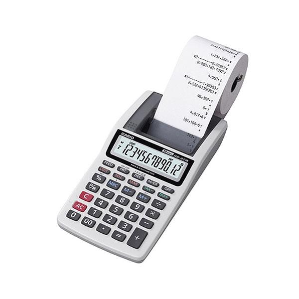 Calculadora de Bolso Casio Printer Hr-8Tm-Gy-Aa-Dh Cinza com Bobina 12 Díg 1.6 Linhas