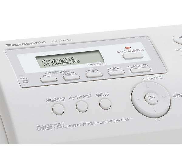 Fax Papel Plano Panasonic Kxfp218Br
