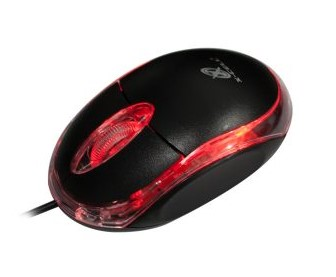 Mouse Optico Usb X-Cell xc-Ms-11F Preto com Fio 100Dpi