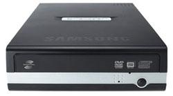 Gravador de DVD Externo Samsung SE-S184 - Ultra Veloz 48X CD / 16X DVD