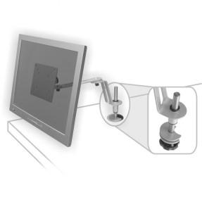 Suporte de Mesa Multivisão Lcd-Flex-Slim-Pc para Monitor 10 a 17 Prata