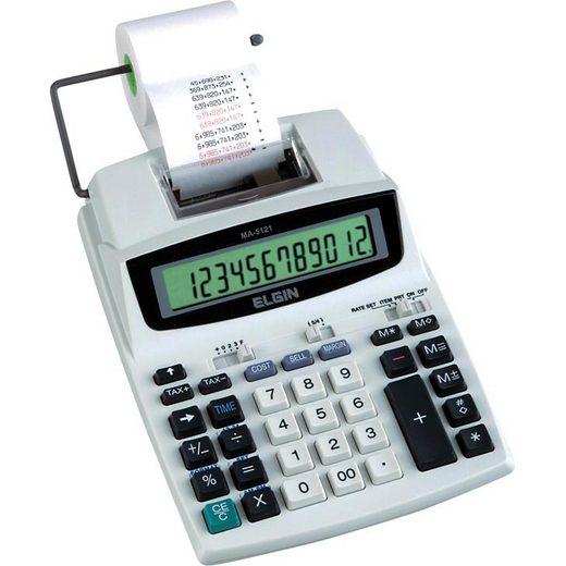 Calculadora Elgin Ma5121 Visor e Impressora 12 Digitos Bivolt