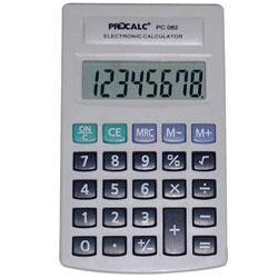 Calculadora de Bolso Procalc Pc082 8 Díg Grandes Bateria Teclas Grandes