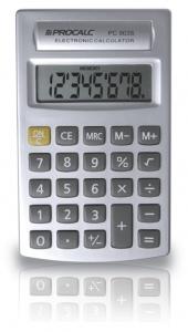 Calculadora Procalc Pc903S 8 Díg Usa Pilha Aa Cor Prata