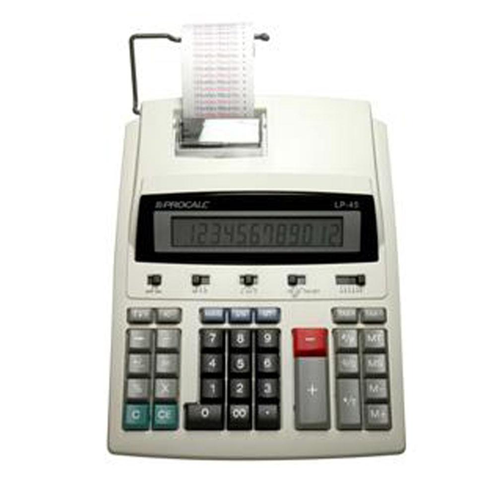 Calculadora de Impressão Procalc Lp45 Impressão Bicolor 12 Díg Bivolt Automático