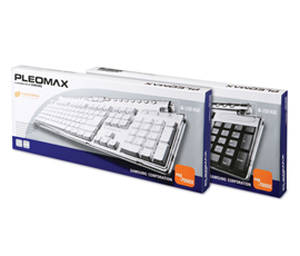 Teclado Multimidia Samsung Pleomax Pkb-7000-x B Usb/Ps2 Preto Cristal