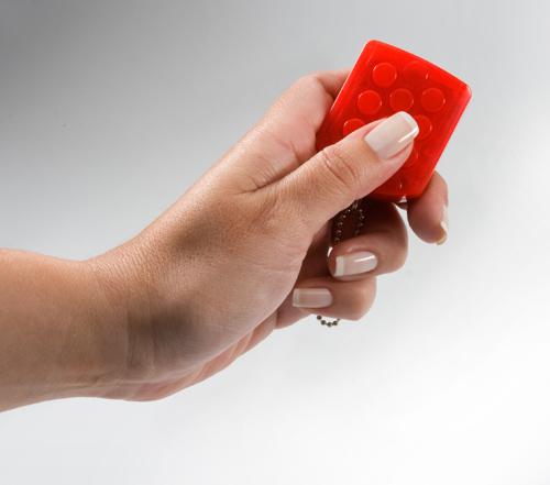 Chaveiro Ploc-Ploc Vermelho a Cada 100 Estouros Emite Um Som Surpresa
