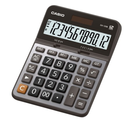 Calculadora Casio Dx-120B 12 Díg Solar e Bateria