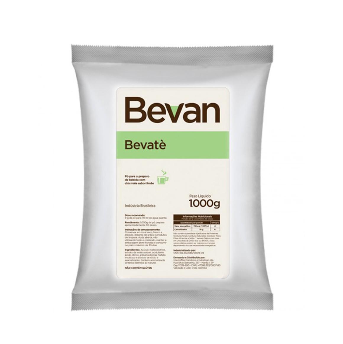 Chá Mate com Limão Solúvel Bevan Bevate 1Kg