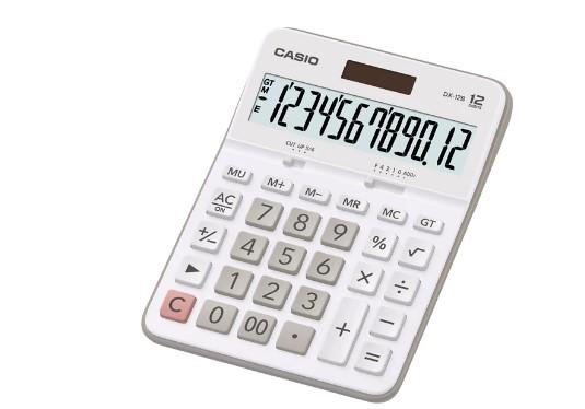 Calculadora Casio de Mesa Dx-12B-We Branca 12 Díg Solar e Bateria