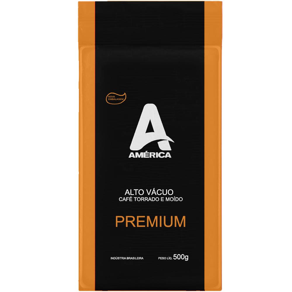 Café América Moído Premium Alto Vácuo 500Gr Blend Torra Média