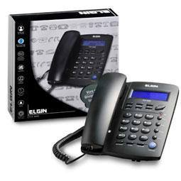 Telefone Elgin Tcf-3000 com Identificador de Chamadas Preto