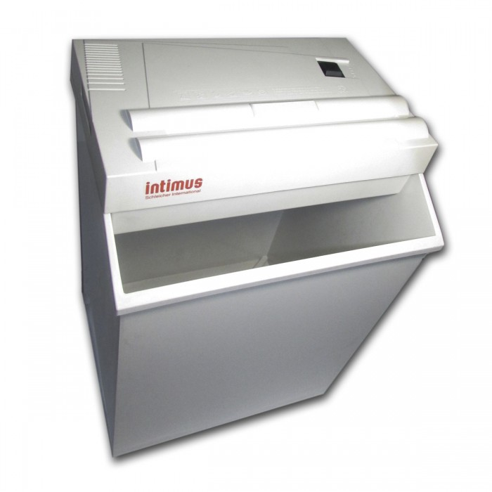 Fragmentadora de papel Intimus 50 110V Uso Contínuo 15 minutos, corta 4 folhas em tiras 3,8mm, 22L, Fabricado na Alemanha