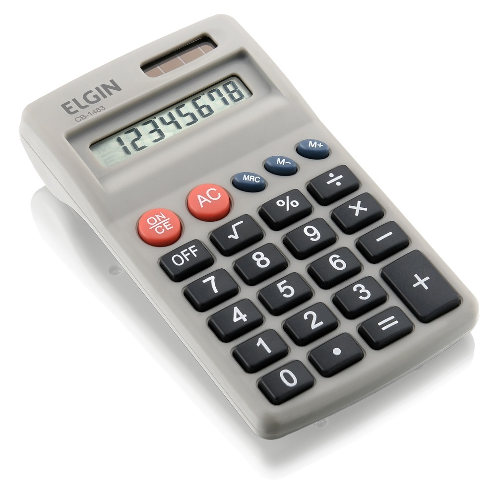 Calculadora de Bolso Elgin Cb 1483 Solar/Pilha