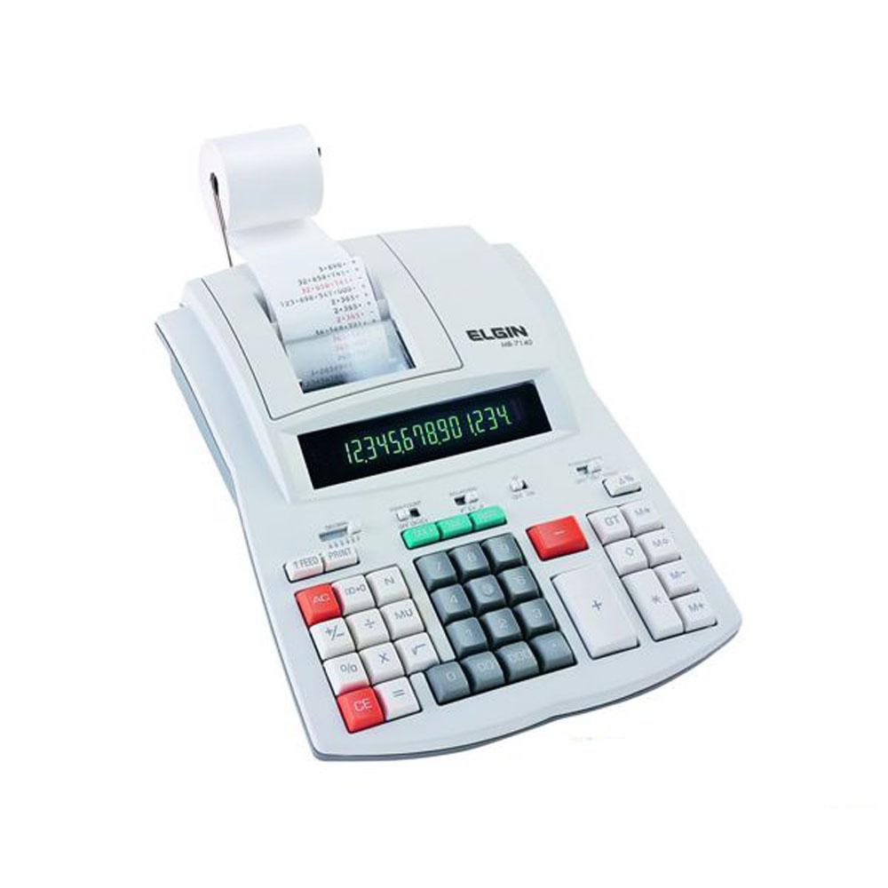 Calculadora de Mesa Elgin mb 7140 com 14 Díg Velocidade de 3,5 Lps Uso Profissional
