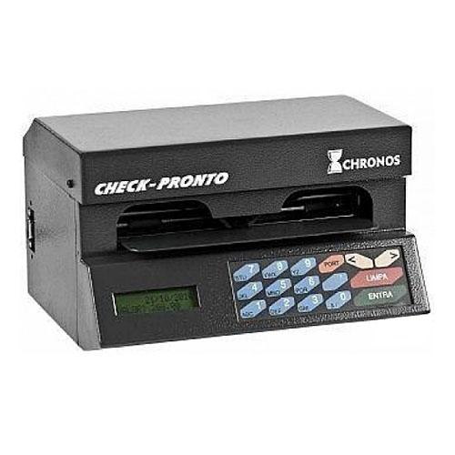 (FORA DE LINHA) Impressora de Cheque CHRONOS MULTI 31100  Cinza com conexão serial ao computador