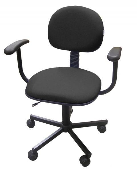 Cadeira Secretária Office Estilo com Braço Multivisão Preto