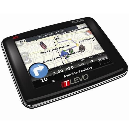 GPS Automotivo 3,5 Slim com Edifícios em 3D T-Levo N23 Elgin