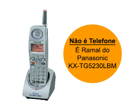 Ramal sem Fio Panasonic Kx-Tga520Lbm (Acessório do Telefone Kx-Tg5230Lbm)