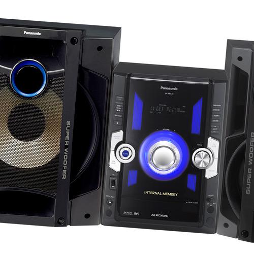 Mini System Panasonic 850Watts c/ Entrada USB SC-AKX70LB-K