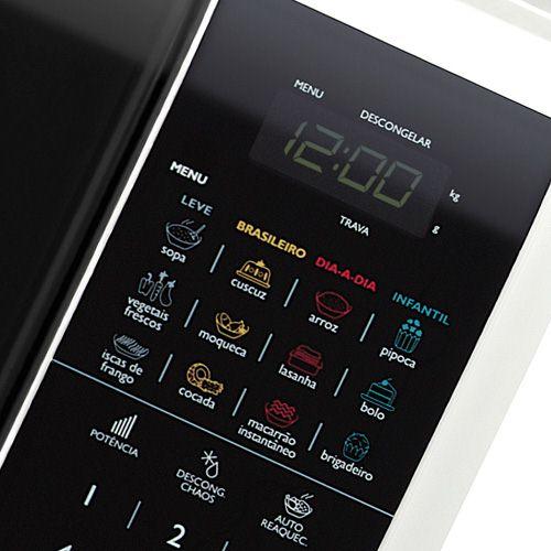 Microondas  Panasonic 28 Litros Branco  NN-ST568WRU + GRÁTIS Suporte p/ Microondas Brasforma SBR3.5- VOLTAGEM 220V