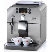 Cafeteira Automática Gaggia Brera Prata, com moedor em cerâmica, display em 3 cores, bomba de pressão de 15 bar 110V