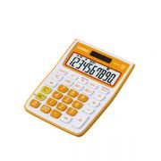Calculadora de mesa Casio Colorful MS-10VC-OE Laranja
