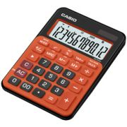 Calculadora de mesa Casio Colorful MS-20NC-BRG 12 dígitos, Big Display, Preto com laranja