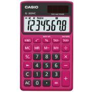 Calculadora de bolso Casio Colorful SL-300NC-BRD-S-DH 8 dígitos, Cálculo de hora, Preta e Vermelha