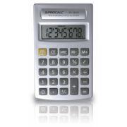 Calculadora Procalc PC903S - 8 dígitos, usa pilha AA, cor prata