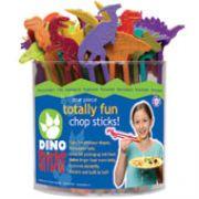 Hashi Infantil Dinossauros Dino Sticks Balde transparente com 48 unidades
