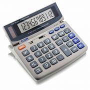 Calculadora de mesa Elgin Mv 4121 12 dígitos solar com visor inclinável