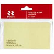 Bloco de Notas Adesivas Amarela 76mm x 127mm