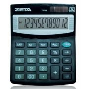 Calculadora Zeta ZT-733 - 12 dígitos, solar/bateria, Auto Power Off