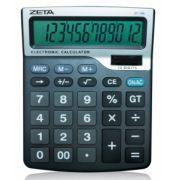 Calculadora de Mesa Zeta ZT-745 - 12 dígitos grandes, solar/pilha (AA), Tamanho grande