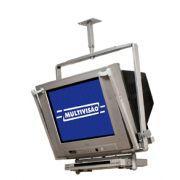Suporte de Teto para TV CRT de 14´´ a 21´´ + DVD ou Acessório Multivisão TV12   Prata