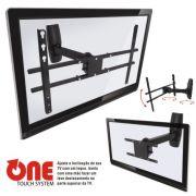 Suporte de Parede Articulado com Inclinação para TVs LCD / PLASMA / LED de 19´´ a 47´´ Multivisão STPA47 Preto